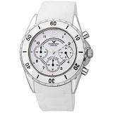 Viceroy White Ceramic Chronograph Rubber Watch 47562-05