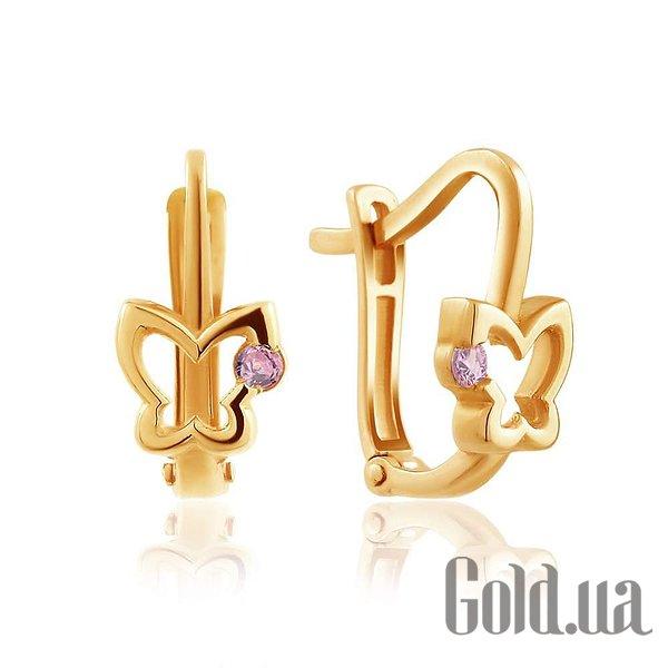 Золотые серьги с куб. циркониями