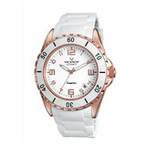 Viceroy White ceramic Date Rubber Watch 47564-95