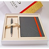Parker Набір ручка + блокнот Sonnet 08 Matte Black CT BP 84 432Cb