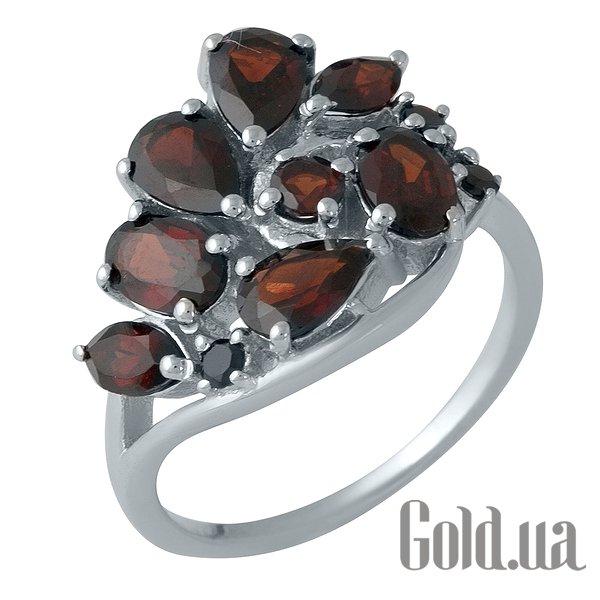 Женское серебряное кольцо с гранатами, 17