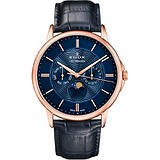 Edox Мужские часы Les Bemonts Moon Phase Complication 40002 37R BUIR