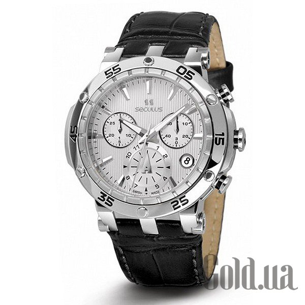 Купить Seculus 1682.2.503 white, ss, black leather