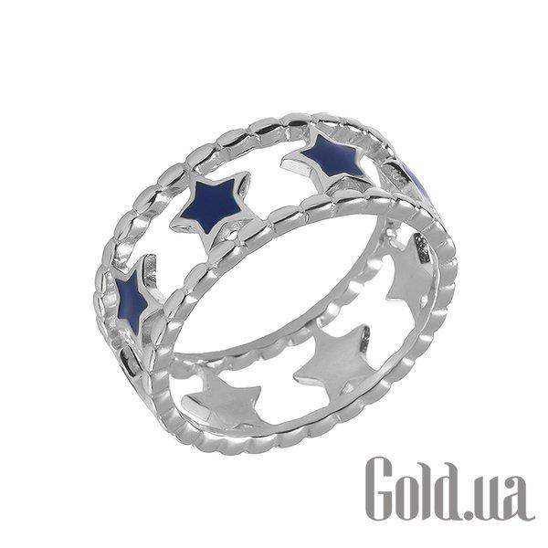 Женское серебряное кольцо с эмалью, 18