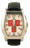 Seculus 4469.1.816 ss case, white with red eyes dial, black leather