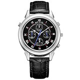 Megir Мужские часы Astronomer Chrono Silver Black MG2013