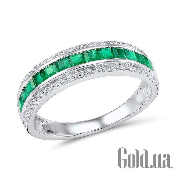 Золотое кольцо с бриллиантами и изумрудами, 18.5