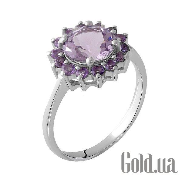 Женское серебряное кольцо с аметистами, 18