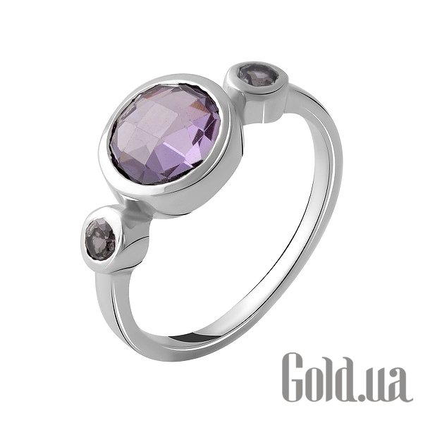 Женское серебряное кольцо с александритами, 17
