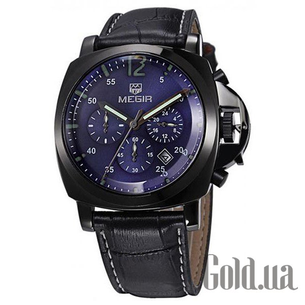 Купить Megir Мужские часы Low-Fly Chrono Army Black Blue Black MG3006