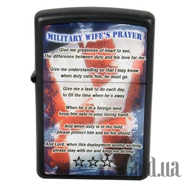 Купить Zippo Зажигалка Military Wifes Prayer 28315