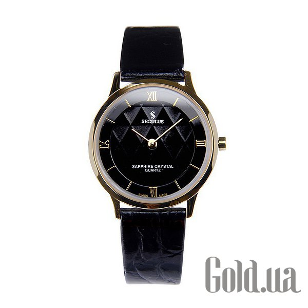 Купить Seculus 1610.1.106 black, pvd, black leather