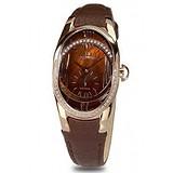 Seculus 1668.2.1064 brown, pvd-r cz stones, brown leather