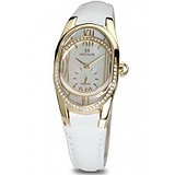Seculus 1668.2.1064 white, pvd-r cz stones, white leather