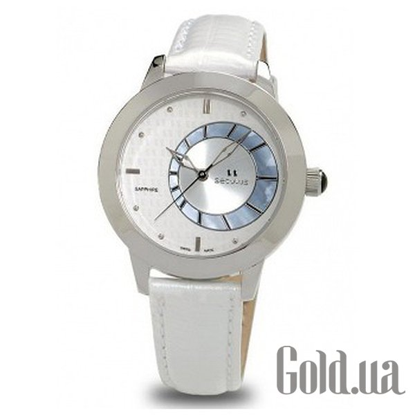 Купить Seculus 1671.2.1063 white mop, ss, white leather