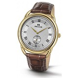 Seculus 4483.2.1069 pvd-y, white dial, brown leather