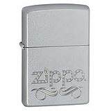 Zippo 205 Zippo Scroll Satin Chrome 24335